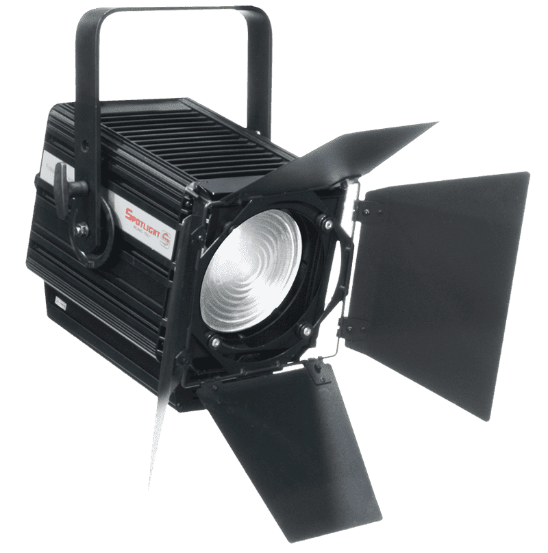 Fresnel LED 200W, CW zoom 14°-81°, 5600K, Universal Dimming control