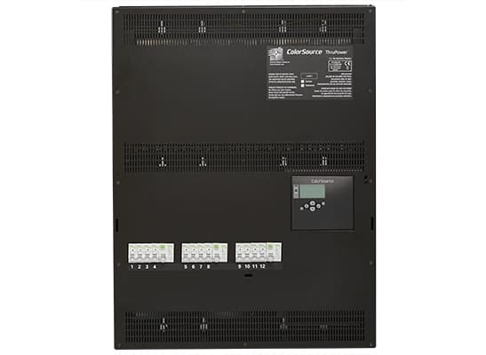ColorSource ThruPower Cabinet; SP, 12x10A (2.3kW), RCD/4 circuits
