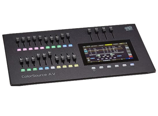 ColorSource 20 AV Control Desk;20 Faders, 40 Channels or Devices, network, audio, and video feature