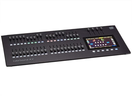 ColorSource 40 AV Control Desk;40 Faders, 80 Channels or Devices, network, audio, and video features